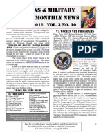 Veterans & Military Families Monthly News-October 2012