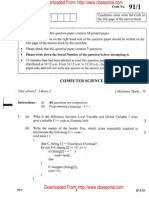 CBSE Class 12 Computer Science Exam Paper 2011 Set 2
