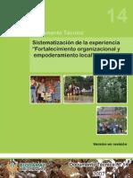 14 - Sistematización Organización Comunal - 28-11-07