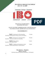 IBO 2007 Pract 2-2 Plant Biology