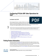 Configuring IP SLAs UDP Jitter Operations for VoIP