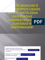 TIPO DE SEDAÇÃO E PSICOTRÓPICO USADO NA UTI