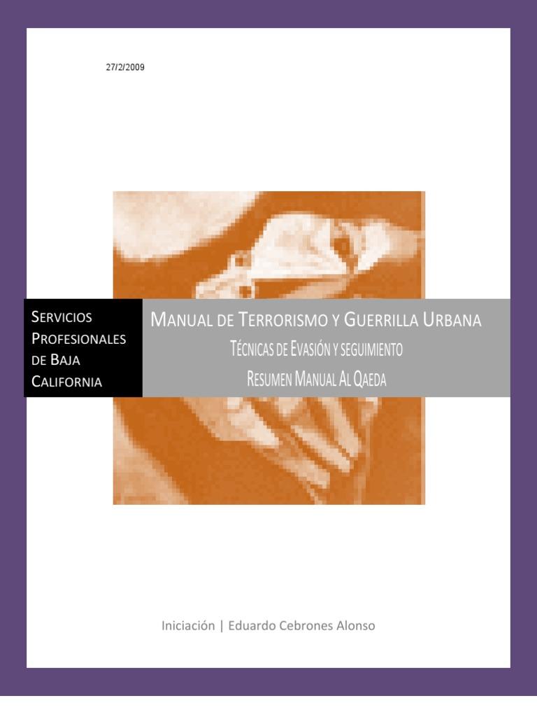 Manual de Terrorism y Guerrilla Urbana