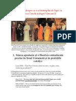 1. Marea Apostazie şi o Biserică contrafăcută prezise în Noul Testament şi în Profeţiile Catolice