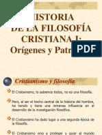 Filosofia Medieval Cristiana I Patristica
