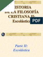 Filosofia Medieval Cristiana II Escolastica