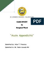 c.acute Appendicitis