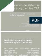 Instauración de sistemas de apoyo en las CAA
