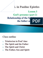 Holy Spirit in Pauline Epistles Lesson 3
