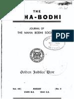 Mahabodhi 49 [Aug 1941]
