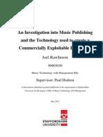 Dissertation Joel Rawlinson 09003830