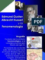 Edmund Husserl y la Fenomenología