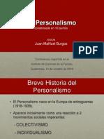 El Personalismo, Conferencia J.M. Burgos