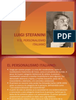 Luigi Stefanini y el personalismo italiano
