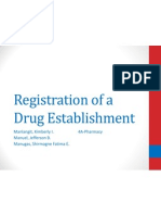 Registration of a Drug Establishment