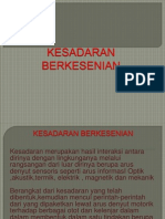 KESADARAN BERKESENIAN