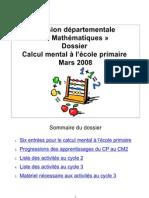 Dossier Calcul Mental Du C2 Au C3 - IA Maine Et Loire