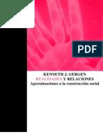 Realidades y Relaciones (Gergen, 1996)
