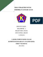 LAPORAN Membersihkan Lemari Asam