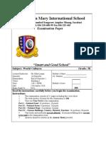 Grade 5E Culture Exam 1st Semester Dec 2010 - Word2003 Compat