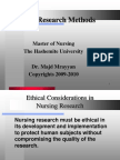 Ethical Considerations 2009