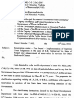 Reservation Roster in HP as on 16june10 Notification- Vijay Kumar Heer