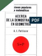 A.I. Fetísov .- Acerca de la demostración en geometría