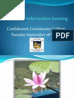 Third Year Information Evening 2011