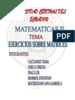 Ejercicios de Matrices