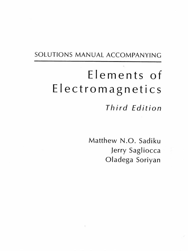 emt solution manual 3rd edition sadiku rh scribd com Math Solution Manual electromagnetics with applications 5th edition kraus fleisch solution manual