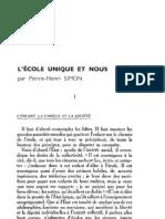Esprit 5 - 11 - 193302 - Simon, Pierre-Henri - L'école unique et nous
