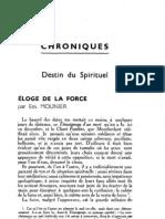 Esprit 5 - 14 - 193302 - Mounier, Emmanuel - Éloge de la force