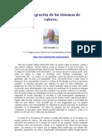 Desintegración de Los Sistemas de Valores