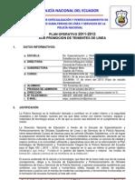 Plan Operativo Tenientes de Linea 2012[1]