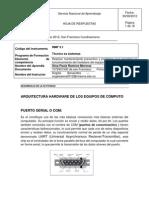 ARQUITECTURA HARDWARE DE LOS EQUIPOS DE CÓMPUTO