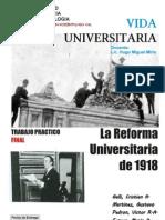 Vida Universitaria Tp La Reforma Universitaria 1918