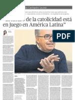 El futuro de la catolicidad está  en juego en América Latina