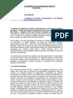 Direito de Empresa e as Sociedades Simples - FABIO ULHOA COELHO