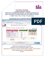 User Manual PGCET 2012