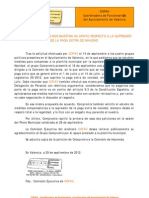 2012-09-28 Comunicado Compromís apoya solicitud de COFAV paga extra
