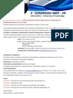 Congresso Abep 2012 Chamada de Trabalhos ULTIMA CHAMADA