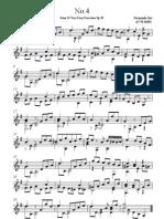 Fernando Sor Etude in G-major No 4 Op 35 No Fingering