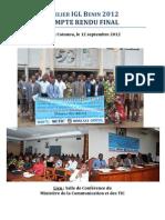 Compte-rendu final Atelier IGL Bénin 2012