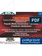 Popular Media and Copyright Governance APSA Presentation by Trajce Cvetkovski