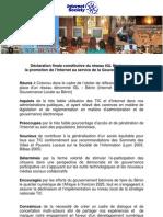 Déclaration finale IGL Bénin 2012