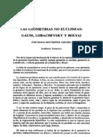 GEOMETRÍA NO EUCLIDIANA_José María Montesinos