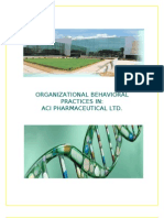 Organizational Behavioral Practices in Aci Pharamaciutical Ltd.