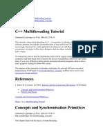 C++ Multithreading Tutorial