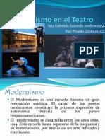 El Modernismo en El Teatro