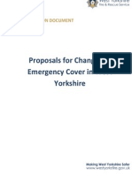 CONSULTATION DOCUMENT Proposals for Changes to Emergency Cover in West Yorkshire